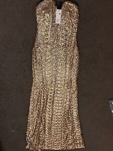 ASOS brand new gold sequin mermaid dress size 8 South Fremantle Fremantle Area Preview