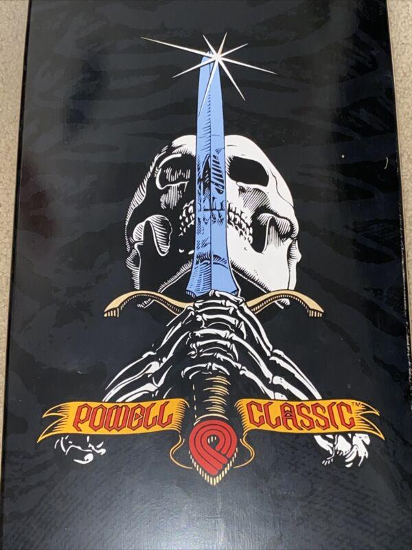 Powell Peralta Skateboard Deck NOS Sword and Skull Deck From 2005 Rare Skate