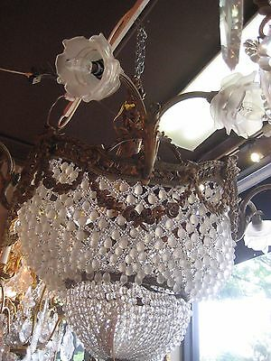 Used, Gorgeous Antique Bronze and Crystals Chandelier for sale  Great Neck
