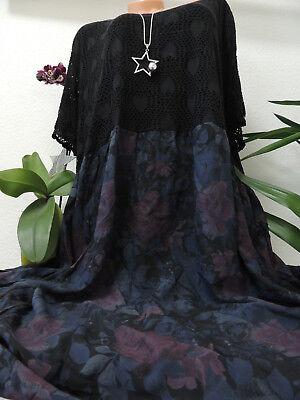 Maxi Kleider Spitze (Damen Kleid Größe 56 58 60 62 64 66 Übergröße Kleider Maxikleid Spitze 1)