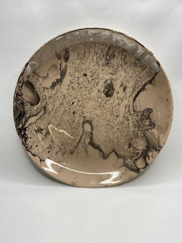 Sascha Brastoff  Plate Marble Color Mid Century EXC Cond