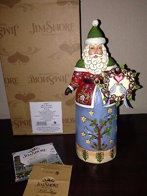 Jim Shore Williamsburg Santa Wintry Welcome 4047817 Christmas Birds HTF