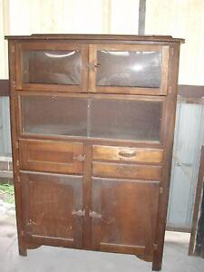 Vintage Kitchen Cabinet/Sideboard. Concave Glass Doors Newcastle Newcastle Area Preview