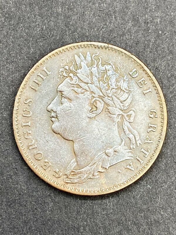 GREAT BRITAIN. George IV, Farthing, 1822