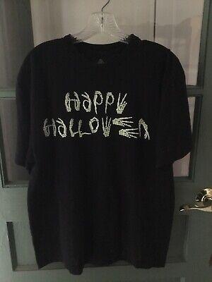 Asl Sign Happy Halloween (Happy Halloween ASL American Sign Language Black Glow In The Dark)