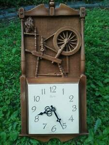 1980 Made USA Antique wall clock Syroco clock movement TOKEI Japan