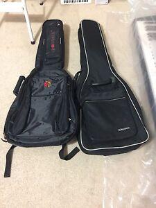 Gig bag for classical guitar.