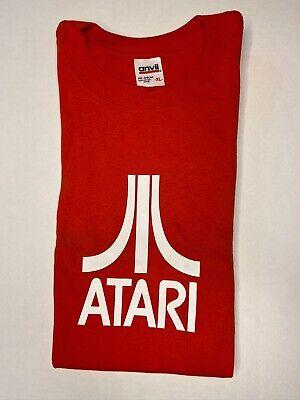 Atari Gamer Vintage Logo Red T-Shirt  - Adult Size XL - NEW