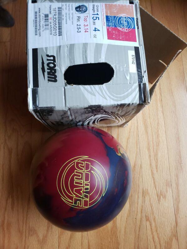 Storm drive bowling ball 15lbs blem