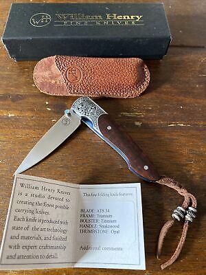 William Henry Knife Special Production T10-I Ironwood