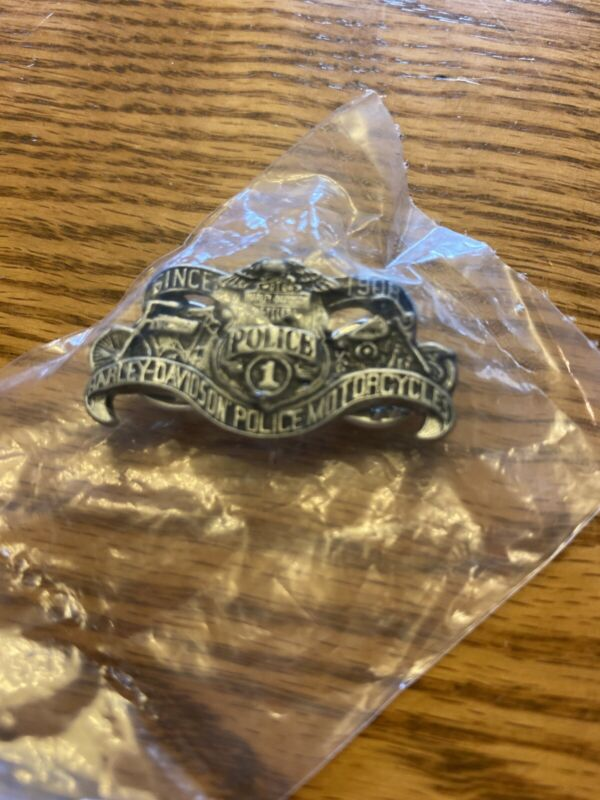 New! HARLEY DAVIDSON MOTORCYCLES Since 1908  POLICE 1 MOTORCYCLES PIN