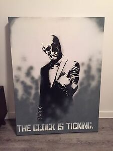 Spray Painted Canvas Art