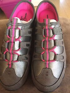 Pink and Grey  Slip on Running Shoes