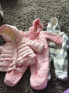 Baby girl snowsuit/coat size 0-3mo