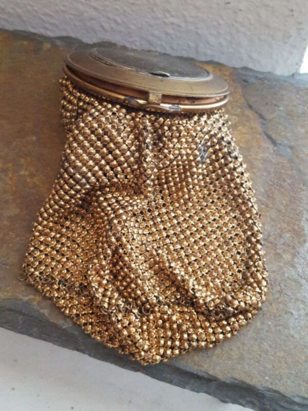 Vintage Mesh Lined Purse & Compact by Whiting & Davis Co Bags USA