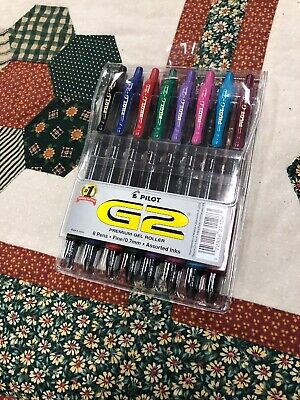 Pilot G2 Retractable Premium Gel Ink Roller Ball Pens Bold Point Assorted