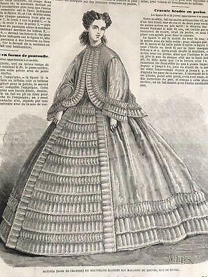 Year 1863 - MODE ILLUSTREE SEWING PATTERN Nov 2,1863 - ROBE DE CHAMBRE