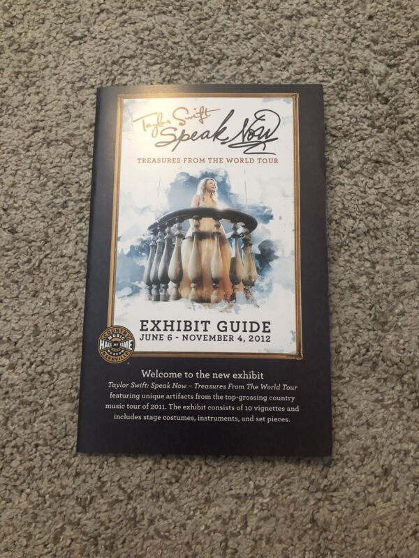 RARE Taylor Swift Speak Now Treasure From the World Tour: Exhibit Guide