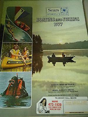 Sears Boating and Fishing Catalog - 1977- Boating and Fishing