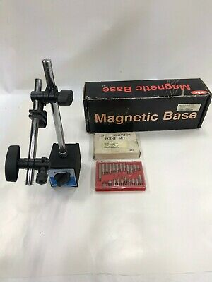 Mhc Magnetic Machinist Base 6625-0341 With 22 Piece Indicator Points