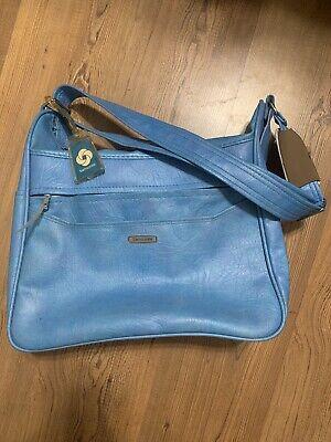 Vintage Samsonite Silhouette Overnight Carry-On Bag Light Blue