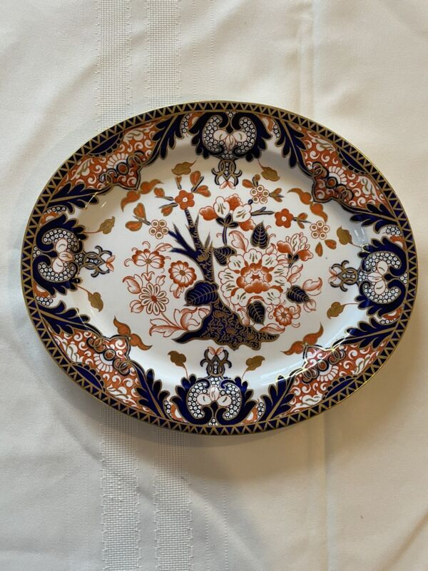 "Royal Crown Derby Imari Kings Oval 11 3/8"" Platter"