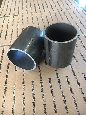 2 Pieces 4 Inch Steel Pipe 5 Inches Long Welding Steel Collars Sch 40