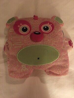 Inkoos Pink Glow in the Dark Bear Draw On Wash Out Plush Stuffed Animal EUC