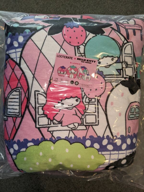 Sanrio Loot Crate Exclusive - Berry Lovely Blanket Hello Kitty - New & Unopened