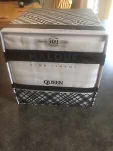 White Queen size bed sheets and pillow cases