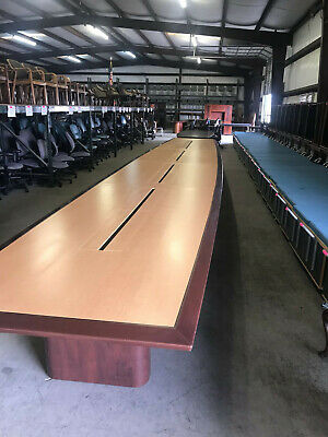 Modern Boat Shapedd 30 Feet Executive Conference Table 31000 When New