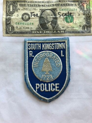 South Kingstown Rhode Island Police Patch Un-sewn great shape