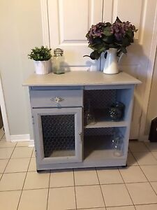 Refinished kitchen buffet/microwave stand