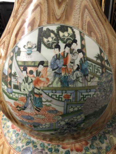 Massive Chinese vase famille verte double gourd republic period China original