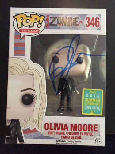 Izombie Rose McIver Olivia Moore Funko Pop Vinyl Autographed Signed COA Exclusiv