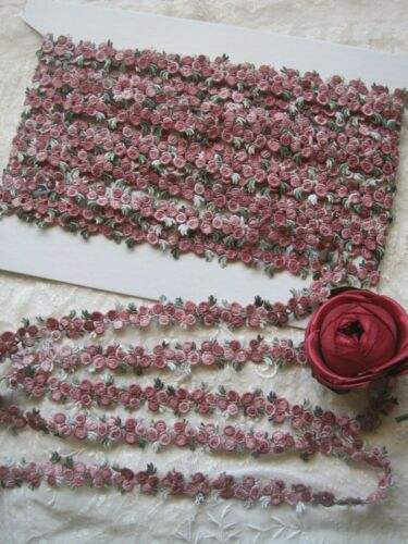 VINTAGE STYLE PINK TINY DOLL SIZE APPLIQUE TRIM,   3 YARDS