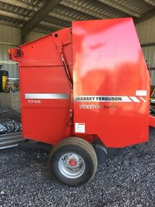 4*5' round baler Massey Ferguson, basically new unit
