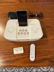 iMode iP210 Alarm Clock Radio White with remote & ipod 8GB silver