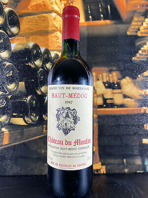 Chateau Du Moulin 1987 Haut-Medoc Grand Vin De Bordeaux Rotwein 0,75L