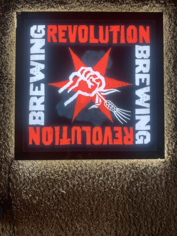 W@W Revolution Brewing Company LED Sign Bar Man Cave Beer Drink Bottle Tap Man