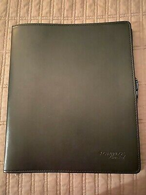 New Cambridge Portfolio Folder Note Pad With Card Slot Black Leather New