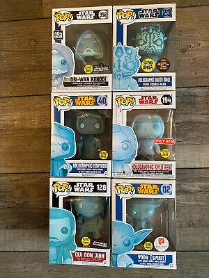 Funko Pop! STAR WARS Holographic Darth Maul ,OB1 , Emperor Palp,Kylo & Yoda GITD