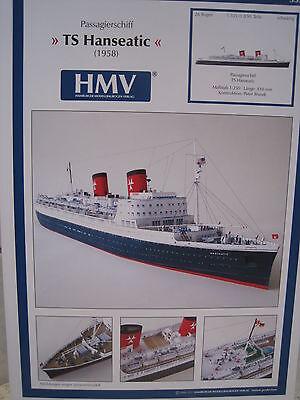 TS Hanseatic Passagierschiff Schiff Kartonbausatz *NEU* Bastelbogen Kartonmodell