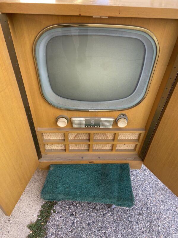 Vintage MCM Mid century Modern 1950s TV television Zenith