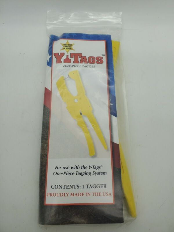 Y-Tex One Piece Ear Tagger Y-Tags Tagging System Cattle Cows New  YTex