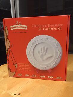 Bunnykins Royal Doulton 3D Handprint Kit keepsake - New in box