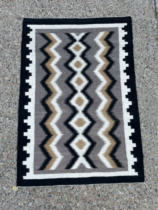 """52x36"""" Authentic Navajo Rug woven fromFred Harvey"""