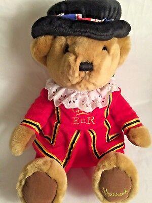 """Harrods Stuffed Teddy Bear Knightsbridge Beefeater Replica Londn Royl Guard 10"""""""
