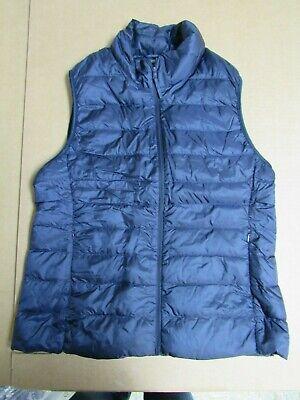 UNIQLO Size XL Navy Dark Blue Packable Puffer Vest   J56