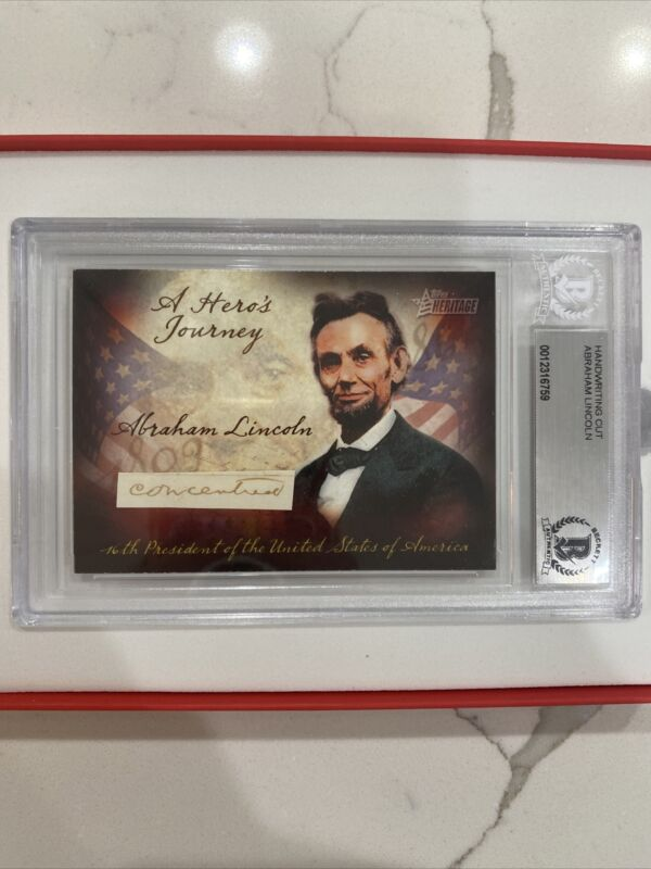 """Abraham Lincoln Cut Handwriting Signed """"concentric"""" Auto (Beckett)"""
